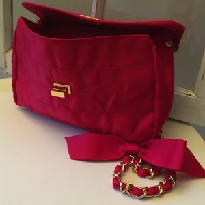 2/$40 Vintage Costa Blanca red and gold purse